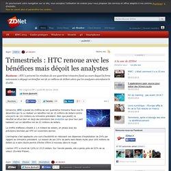 Trimestriels : HTC renoue avec les bénéfices mais déçoit les analystes