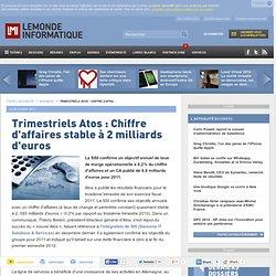 Trimestriels Atos : Chiffre d'affaires stable à 2 milliards d'euros