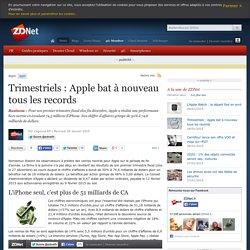 Trimestriels : Apple bat à nouveau tous les records
