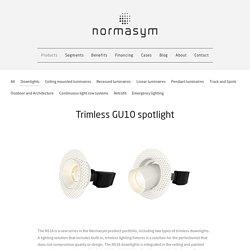 Trimless GU10 spotlight
