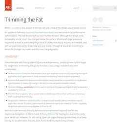 Trimming the Fat — Paul Robert Lloyd