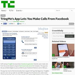 TringMe's App Lets You Make Calls From Facebook - Flock