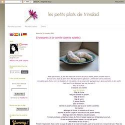 Croissants à la vanille (petits sablés)