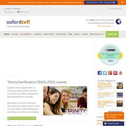 TEFL Courses Barcelona, Prague, London, Cadiz, Spain, the UK, TE