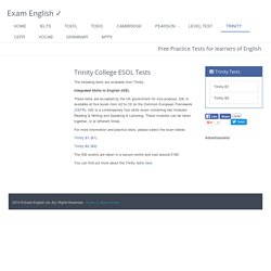 Trinity College ESOL Tests