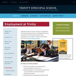 Trinity Episcopal School: Employment