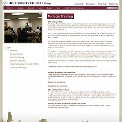 Holy Trinity Church Chicago > Ministry Training
