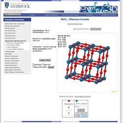 ReO3 - Rhenium trioxide: Interactive 3D Structure