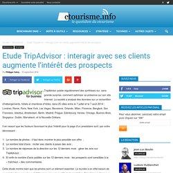 Etude TripAdvisor : interagir avec ses clients augmente l'intérêt des prospects
