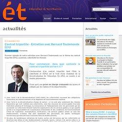 Contrat tripartite - Entretien avec Bernard Toulemonde (1/4) : Education et Territoires
