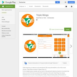 Triple Wings – Applications Android sur Google Play
