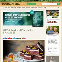 Triple Layer Chamomile Brownies