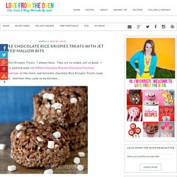 Triple Chocolate Rice Krispies Treats With Jet Puffed Mallow Bits