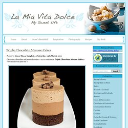 Chocolate Mousse Cakes, Chocolate Mousse Recipes, Mousse Cakes