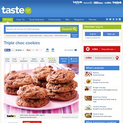 Triple Choc Cookies Recipe