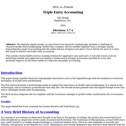 Triple Entry Accounting