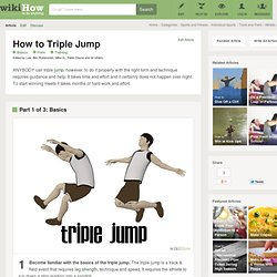 3 Ways to Triple Jump