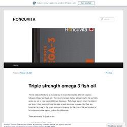 Triple strength omega 3 fish oil