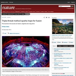 Triple-threat method sparks hope for fusion