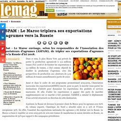 ASPAM : Le Maroc triplera ses exportations d'agrumes vers la Russie