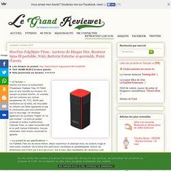 HooToo TripMate Titan - Lecteur de Disque Dur, Routeur Sans fil portable, NAS, Batterie Externe 10400mAh, Point d'accès