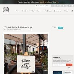 Tripod Easel PSD MockUp