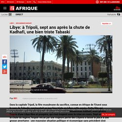 Libye: à Tripoli, sept ans après la chute de Kadhafi, une bien triste Tabaski
