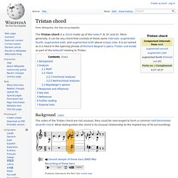 Tristan chord