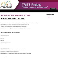 HISTORY OF THE MEASURE OF TIME