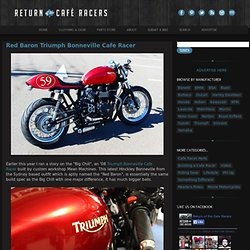 Red Baron Triumph Bonneville Cafe Racer