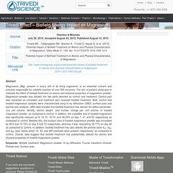 Trivedi Effect - Biofield Energy Impact on Magnesium