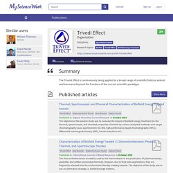 The Trivedi Effect Publications List