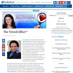 The Trivedi Effect™ - Lessons from a Recovering Doormat