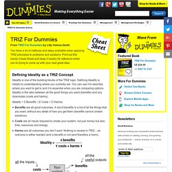 TRIZ For Dummies Cheat Sheet