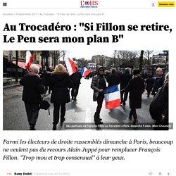 """Au Trocadéro : """"Si Fillon se retire, Le Pen sera mon plan B"""""""