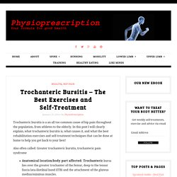Trochanteric Bursitis - The Best Exercises and Treatment