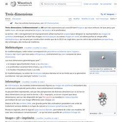 Trois dimensions