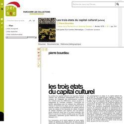 Les trois états du capital culturel