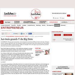 Les trois grands V du Big Data