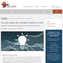 Les trois temps de l'innovation à partir du local - Thot Cursus