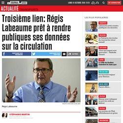 Troisième lien: Régis Labeaume prêt à rendre publiques ses données sur la circulation