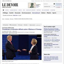 Troisième et dernier débat entre Clinton et Trump