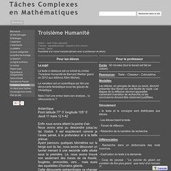 Troisième Humanité - Tâches Complexes en Mathématiques