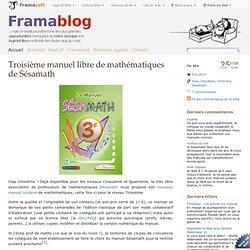 Troisième manuel libre de mathématiques de Sésamath