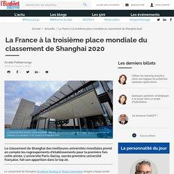 La France à la troisième place mondiale du classement de Shanghai 2020