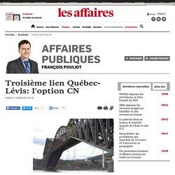 Troisième lien Québec-Lévis: l'option CN