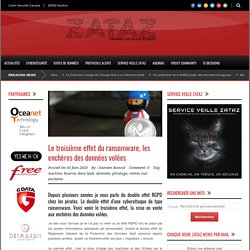 ZATAZ » Le troisième effet du ransomware, les enchères des données volées