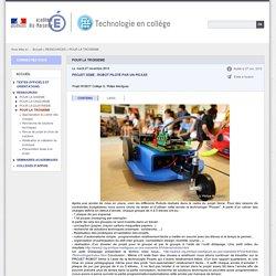 POUR LA TROISIEME - Technologie en collège
