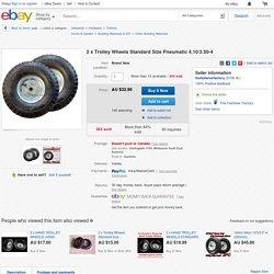 2 X Trolley Wheels Standard Size Pneumatic 4 10 3 50 4