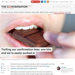 Bad science: fake chocolate study exposes poor publication practices